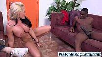 Alena Watched By Step Son While Pleasing Big Bl...
