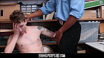 Twink Caught Shoplifting And Fucked By Black Se...