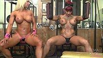 Naked Female Bodybuilder Muscle Lesbians in the...