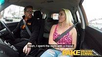Fake Driving School Busty horny blonde needs co...