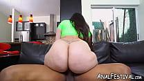 Voluptuous Alycia Starr has booty dicked by bla...