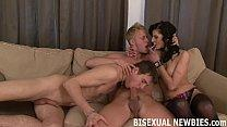 I will guide you in your first bisexual threesome
