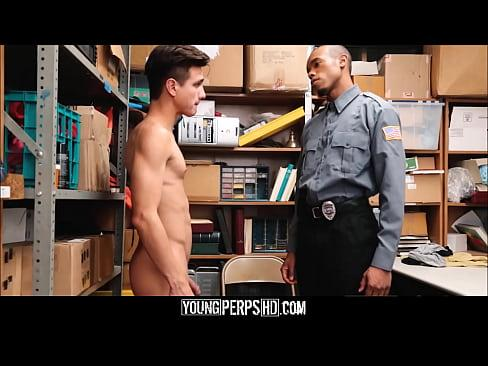 Twink Caught Shoplifting Fucked By Black Security Guard With Huge Cock