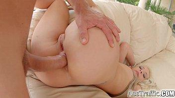 Ass Traffic Naughty blonde loves it in the ass