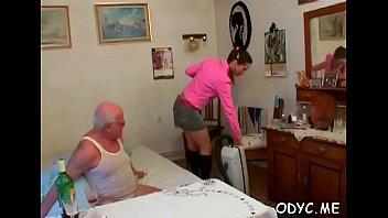 Kinky old man gets favourable with a tight young pussy