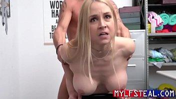 Arrogant Blonde MILF Fucks Cop After Getting Caught- Sarah Vandella