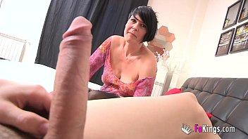 Spanish squirting mature licks Jordi's big cock